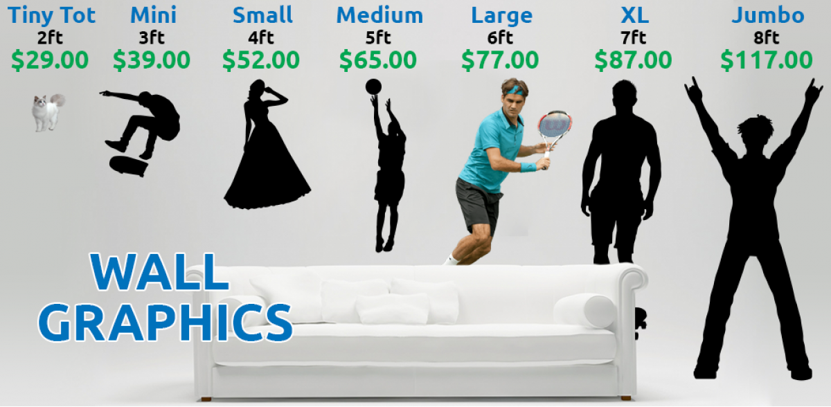 Life Size Vinyl Wall Decals