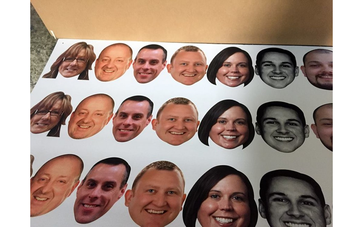 Head cutouts for every event