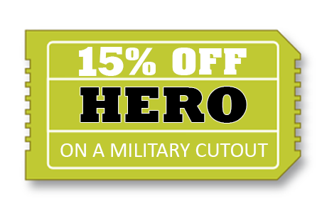 15% off military Cutouts