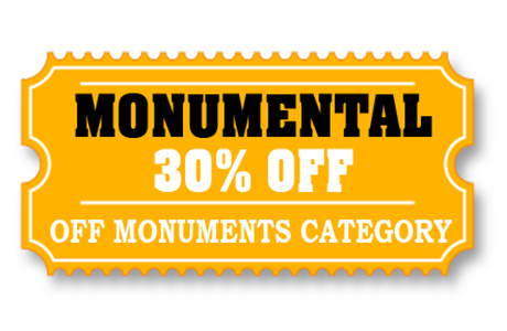 30% off monument cutouts