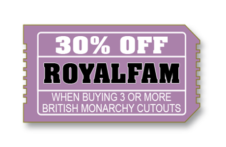 30% off royal family cardboard cutouts