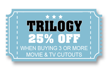 25% off 3 or more MOVIE CUTOUTS